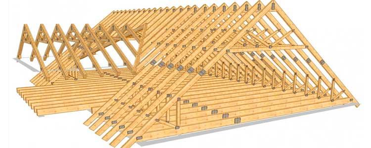 Строительство двускатной крыши частного дома своими руками пошагово 87