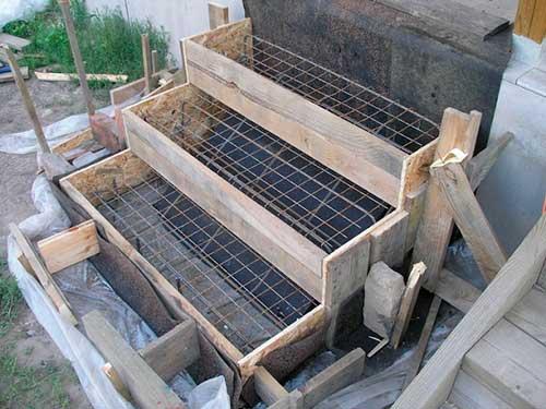 Крыльцо из бетона своими руками с фото