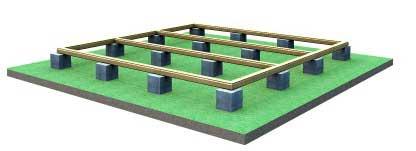 фундамент для щитовой бани