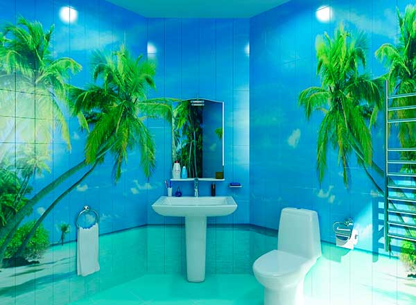 Панели для ванной комнаты панно